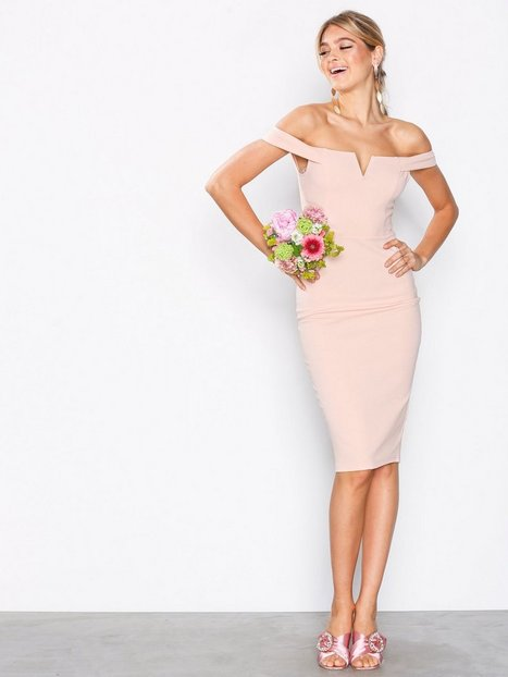 Billede af Ax Paris Bardot Midi Dress Kropsnære kjoler Blush
