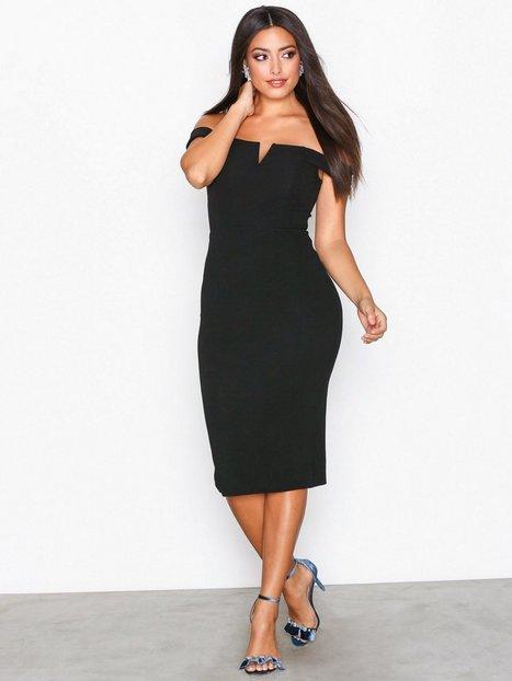 Billede af Ax Paris Bardot Midi Dress Kropsnære kjoler Black