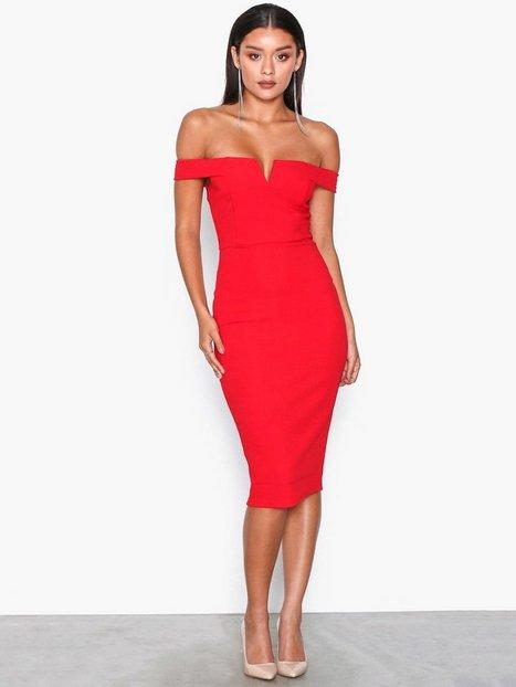 Billede af Ax Paris Bardot Midi Dress Kropsnære kjoler Red