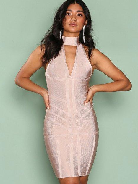 Billede af Ax Paris Bandage Choker Bodycon Dress Kropsnære kjoler Light Beige