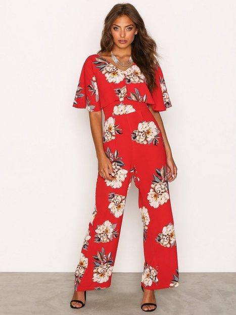 Billede af Ax Paris Floral Jumpsuit Jumpsuits Red