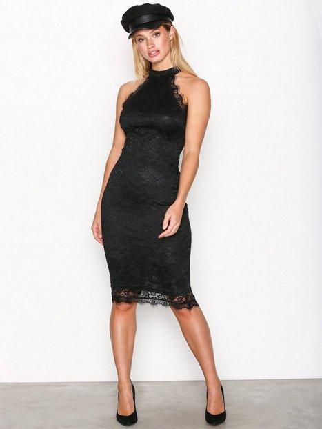 Ax Paris High Neck Lace Dress Kotelomekot Black thumbnail