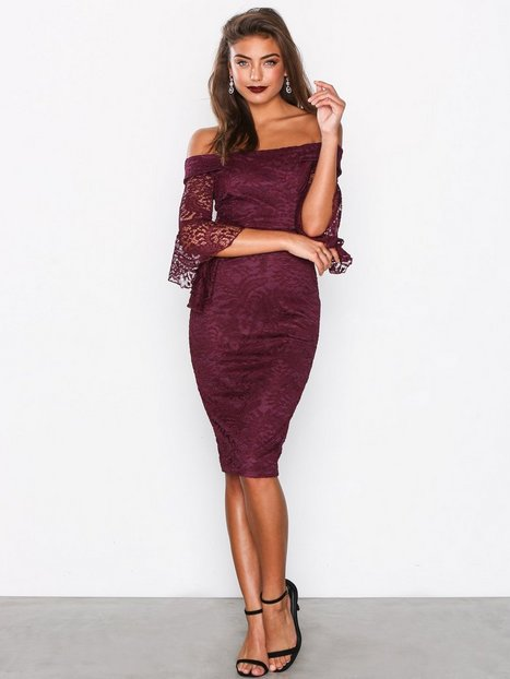 Billede af Ax Paris All About the Sleeve Dress Maxikjoler Plum