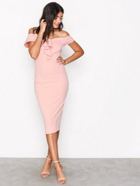 Billede af Ax Paris Bardot Frill Dress Kropsnære kjoler Blush