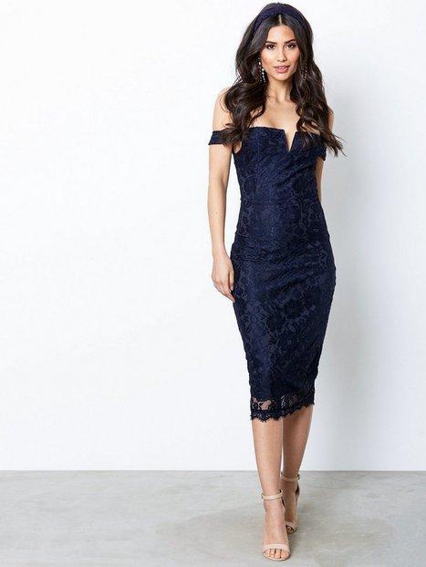 Billede af Ax Paris Bardot Lace Dress Kropsnære kjoler Marine