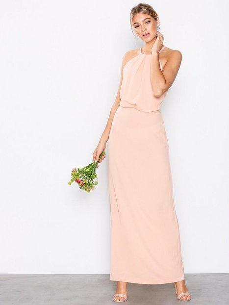 Billede af Ax Paris Halter Lace Back Dress Maxikjoler Blush