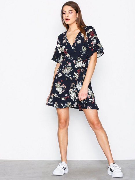 Frill Sleeve Mini Dress