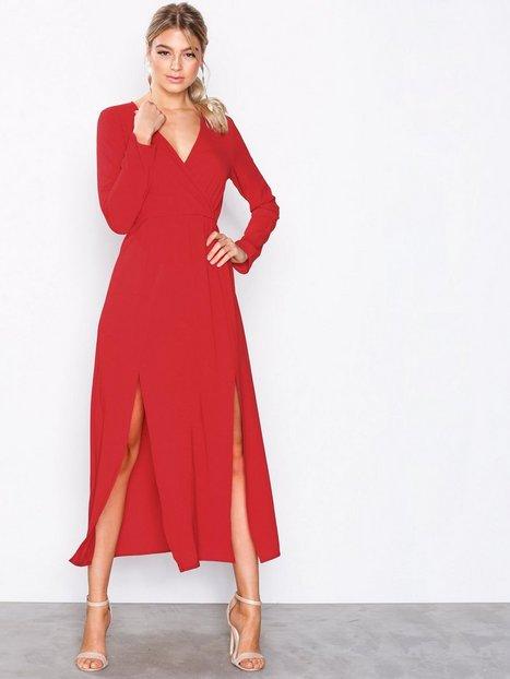Billede af Ax Paris Long Sleeve Dress Maxikjoler Red