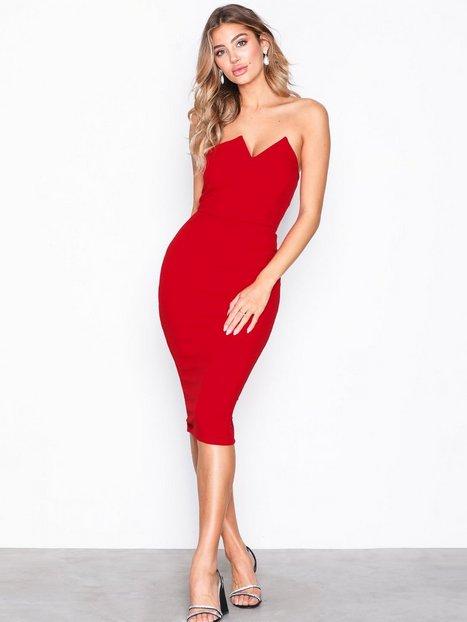 Billede af Ax Paris Bandeau Bodycon Dress Kropsnære kjoler Red