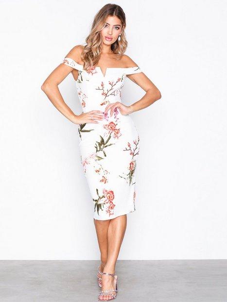 Billede af Ax Paris Bardot Bodycon Midi Dress Kropsnære kjoler Cream