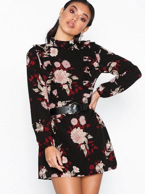 Billede af Ax Paris Flower Mini Dress Langærmede kjoler
