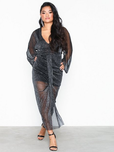 Billede af Ax Paris Long Sleeve Flounce Glitter Dress Skater kjoler