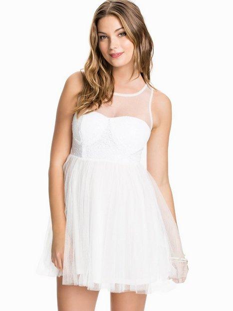 Billede af Club L Sweetheart Mesh Sequin Prom Dress Skaterkjole Hvid
