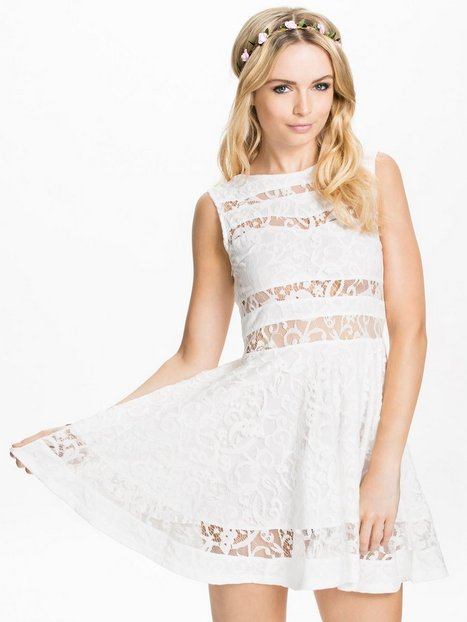 Lace Panel Insert Dress