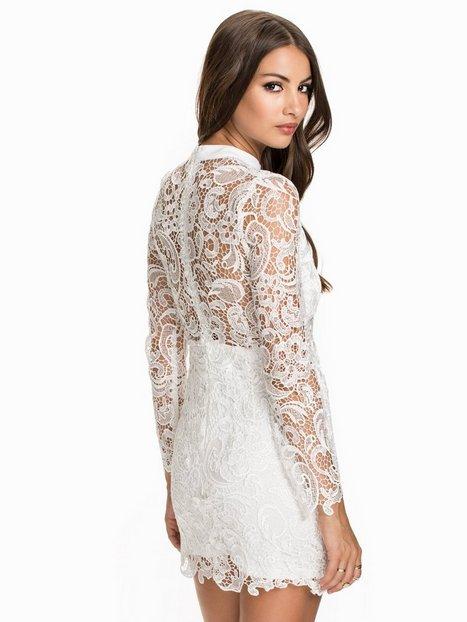 High Neck Crochet Dress