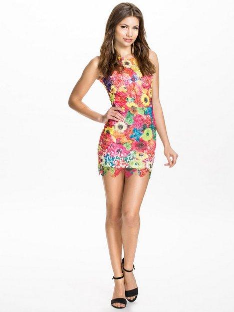 Multi Floral Crochet Dress