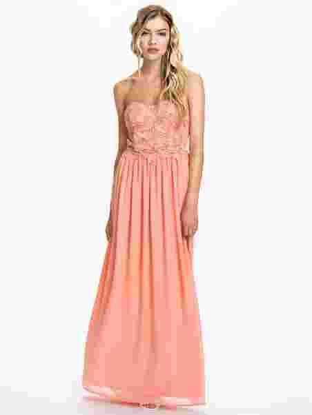 choose best discount shop limpid in sight Crochet Detail Bustier Maxi Dress, Club L
