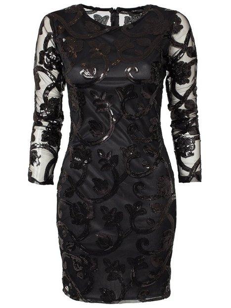 Brocade Sequin Bodycon Dress
