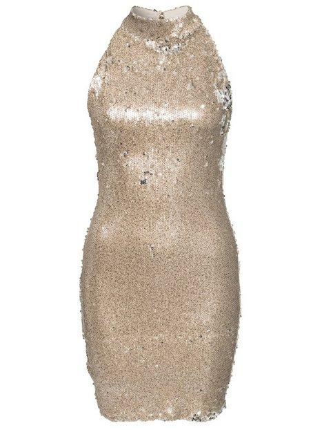 High Neck Light Sequin Dress