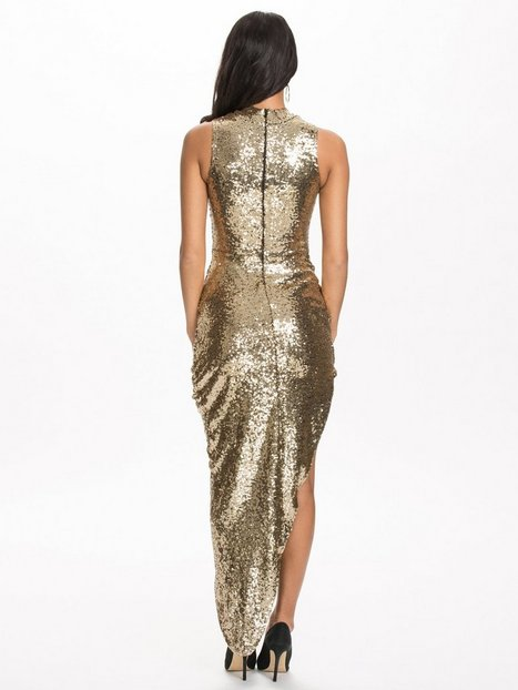 Sequins Turn Up Side Ruched Dress