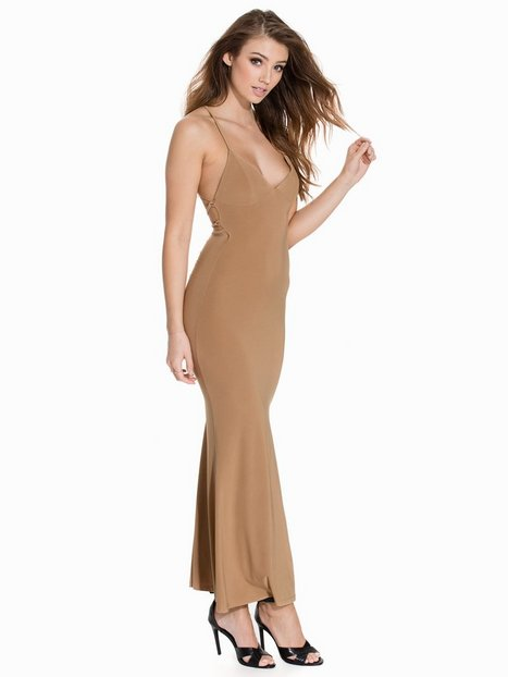Club L Cami Slinky Rouched Back Dress Maxiklänningar Camel thumbnail