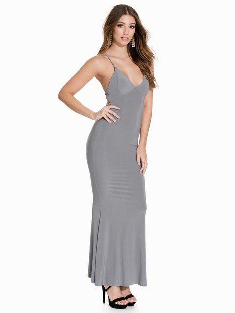Billede af Club L Cami Slinky Rouched Back Dress Maxikjole Grey