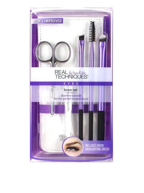Billede af Real Techniques Brow Set Pensle & Sminkebørste Purple