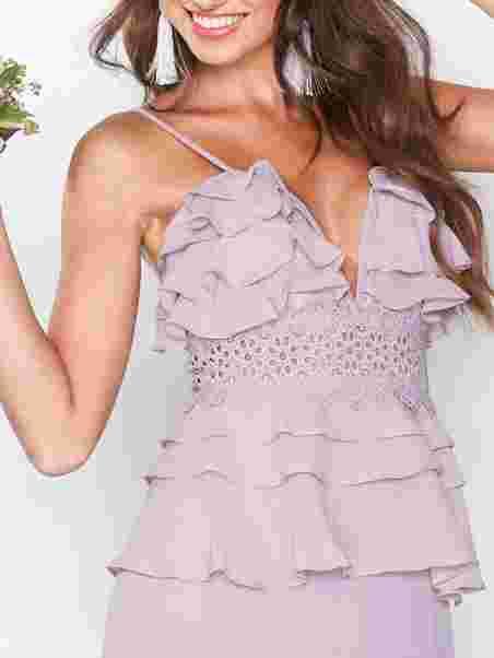 289f1fac3ce129 Frill Dress - True Decadence - Dusty - Feestjurken - Kleding - Vrouw ...