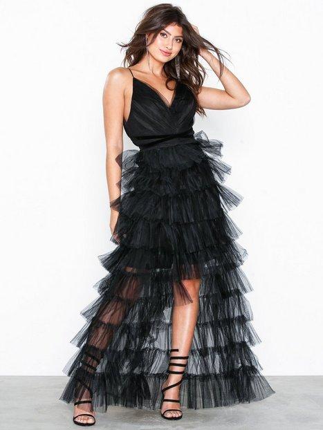 Billede af True Decadence Feather Strappy Dress Maxikjoler