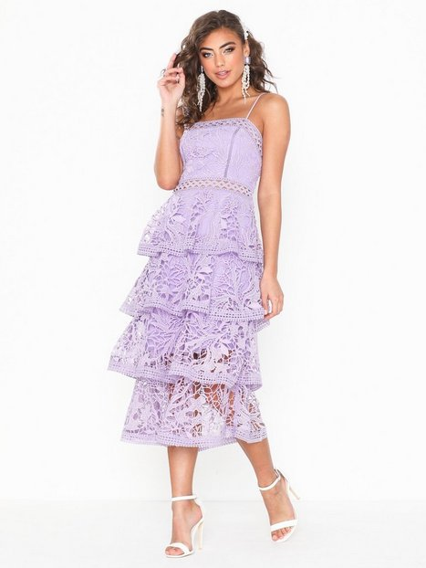 Billede af True Decadence Frill Lace Midi Dress Maxikjoler