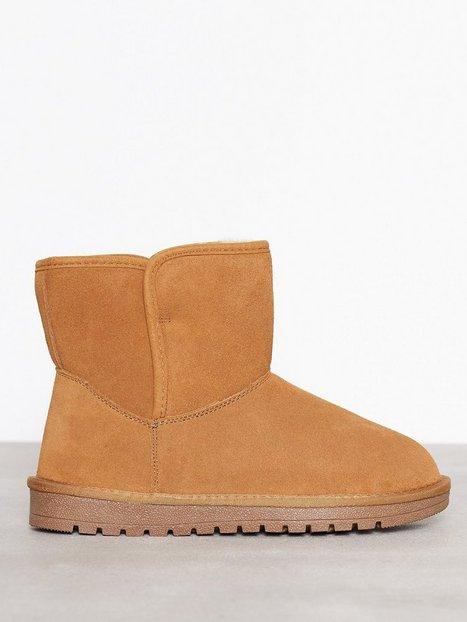 Billede af Duffy Leather Warm Boots Flat Camel