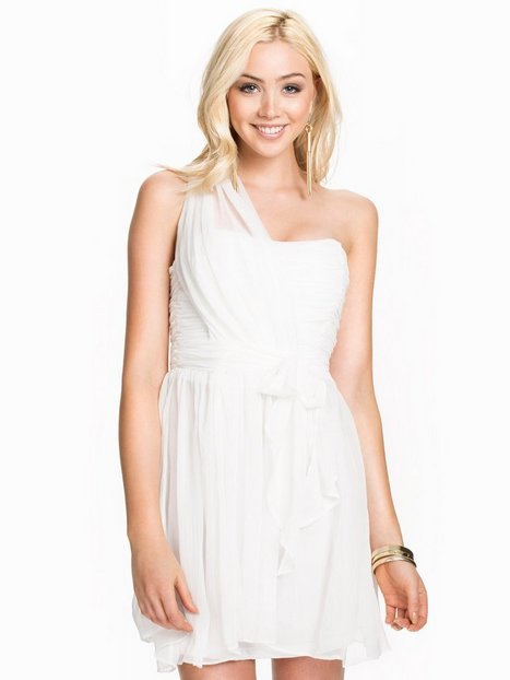 One Shoulder Prom Dress - Glamorous - White - Party Dresses ...