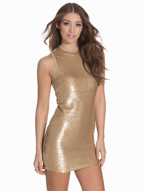 Billede af Glamorous Sequin Bodycon Pailletkjoler Golden