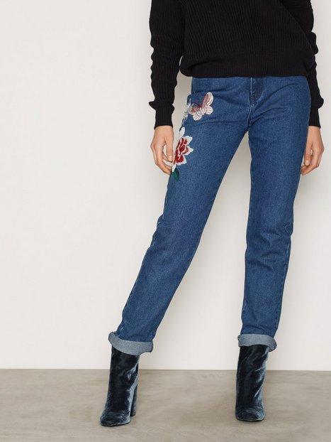 Billede af Glamorous Butterfly Jeans Straight Indigo