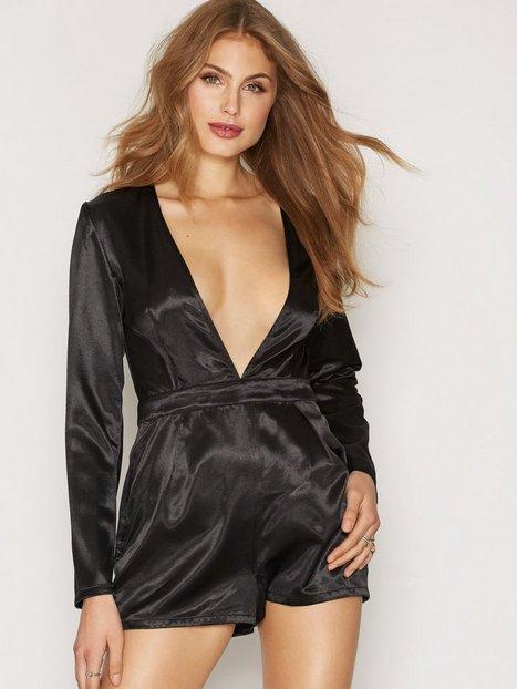 Billede af Glamorous Deep V-neck Playsuit Playsuits Black