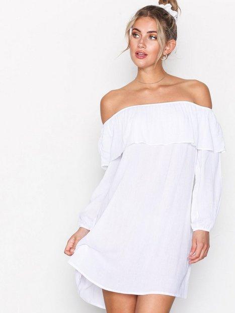 Billede af Glamorous Off Shoulder LS Dress Kjoler White