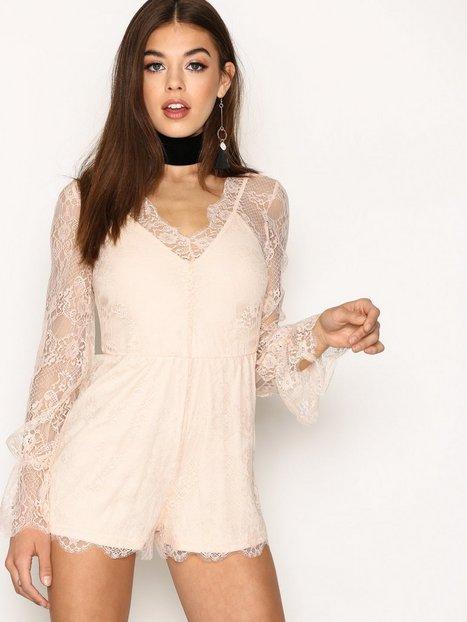 Billede af Glamorous Dreamy Lace Playsuit Playsuits Light Beige