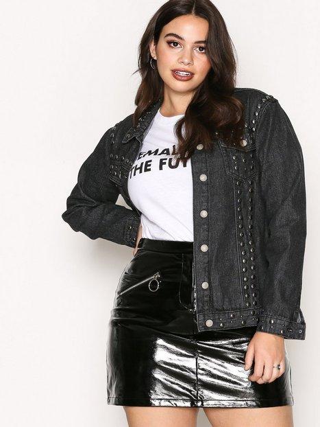 Billede af Glamorous Stud Jeans Jacket Cowboyjakke Washed Black