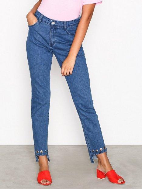 Billede af Glamorous Detail Hem Jeans Loose fit Mid Blue