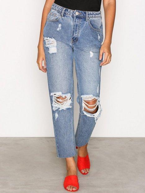 Billede af Glamorous Destroy Mom Jeans Loose fit Mid Blue