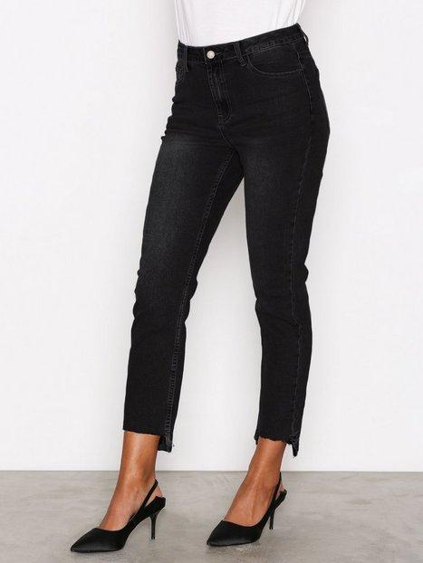 Billede af Glamorous Mom Jeans Straight Washed Black