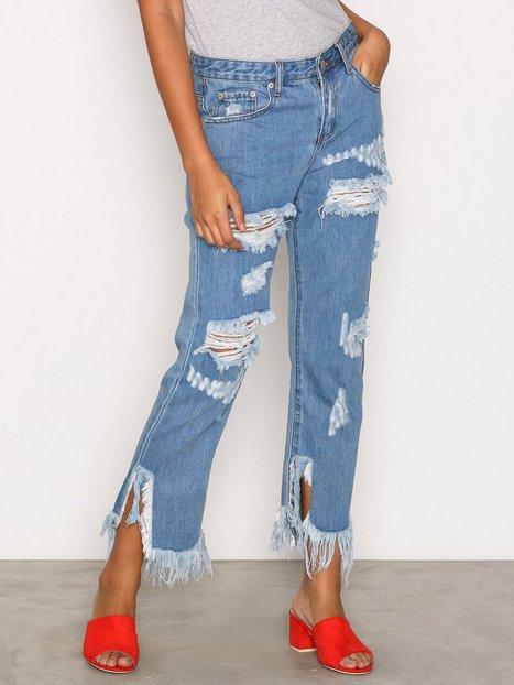 Billede af Glamorous Distressed Jeans Loose fit Mid Blue