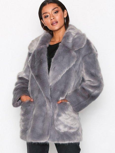 Billede af Glamorous Andrea Faux Fur Jacket Faux Fur Grey