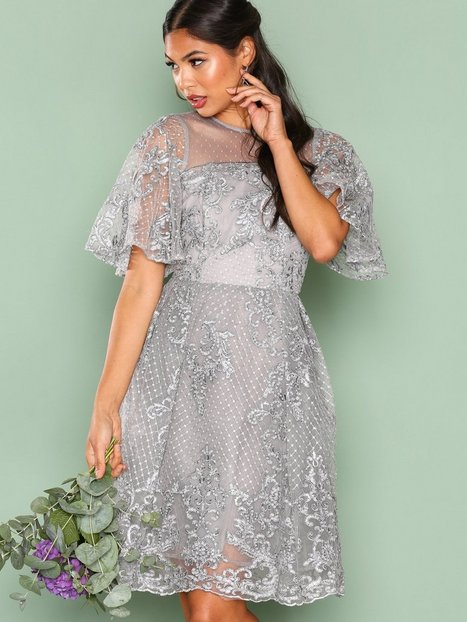 grey party dresses