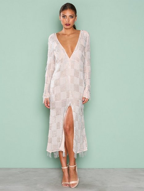 Billede af True Decadence Long Sleeve Detail Dress Pailletkjoler Sølv