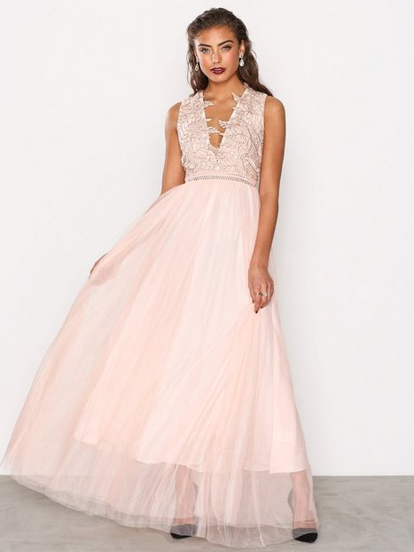 Billede af True Decadence Lace Detail Maxi Dress Maxikjole White