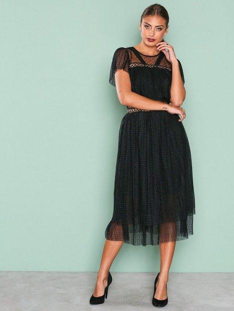 Billede af True Decadence Short Sleeve Mesh Detail Dress Loose fit Black