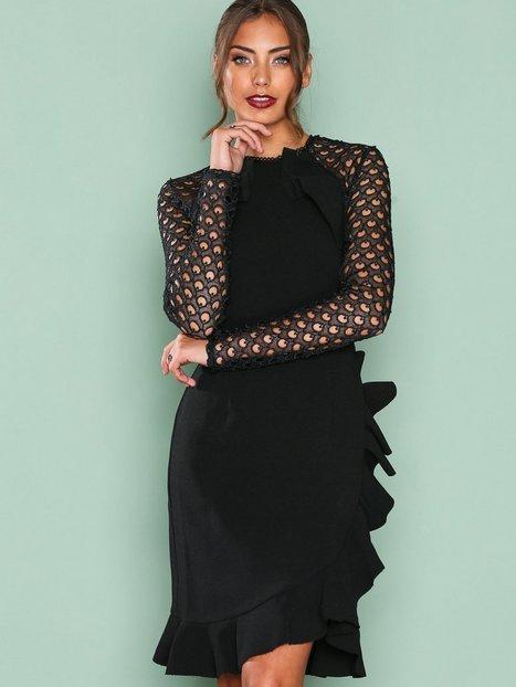 Billede af True Decadence Lace Frill Detail Dress Kropsnære kjoler Black