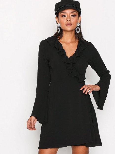 Billede af Glamorous Short Sleeve Chiffon Dres Kjoler Black
