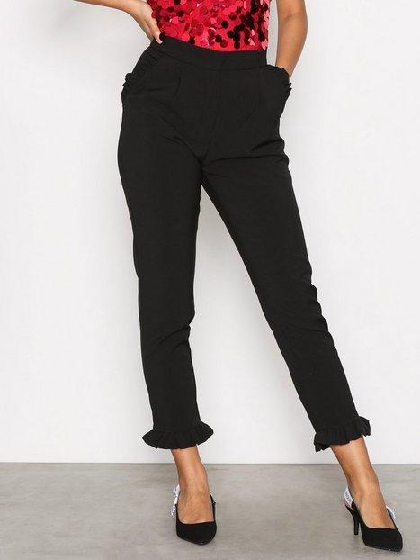 Billede af Glamorous Amanda Frill Hem Trousers Bukser Black